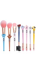 Cute Cartoon Makeup Brushes Set