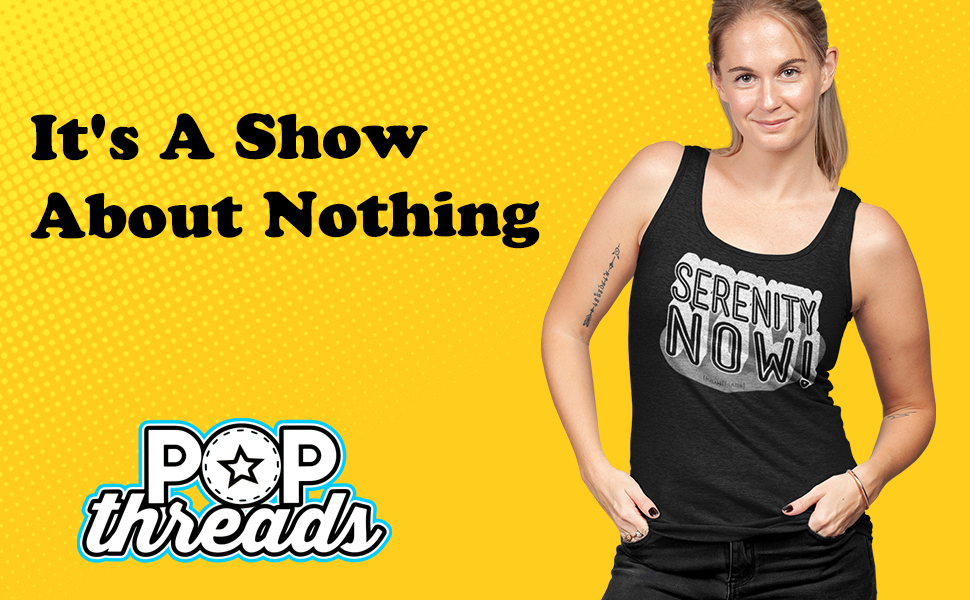 Pop Threads Funny TV Vandelay Sea was Angry That Day Costanza Fashion Tank Top Tee for Women