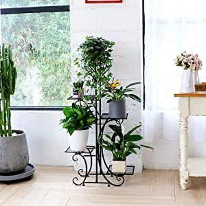 5 tier iron plant stand