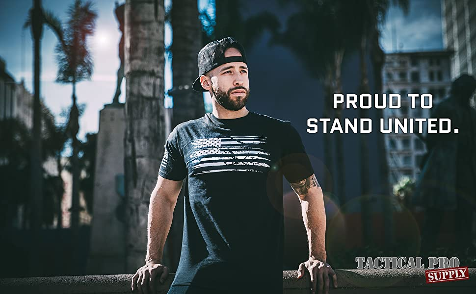 Tactical Pro Supply - Patriotic American Flag Shirt for Men & Women - Made in USA - Proudly American