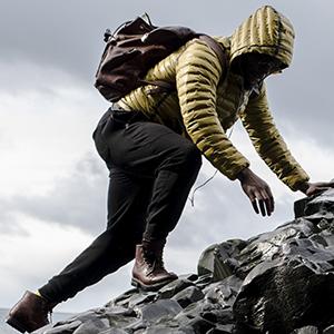 mens hooded warm winter down coat