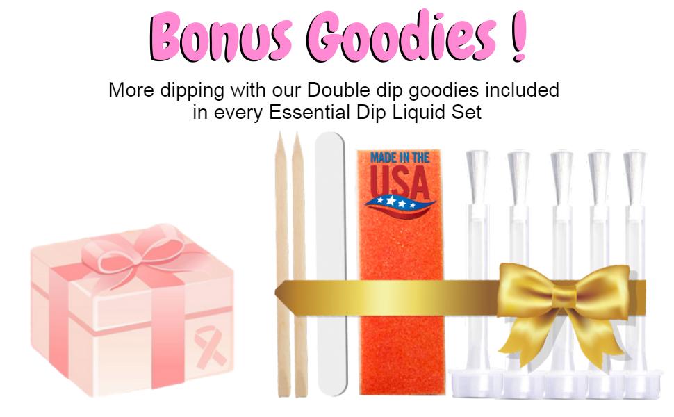 bonus goodies dip liquid set