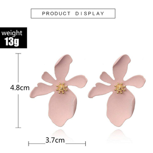 pink flower earrings for girls