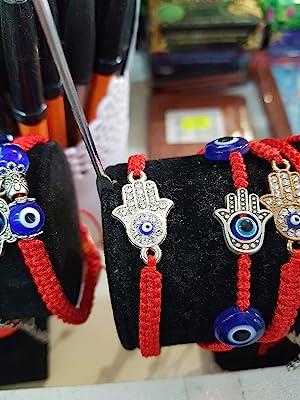 Hamsa Hand Evil Eye Iced Out Diamond Charm Beads for Jewelry Making