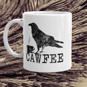 cawfee crow coffee mug