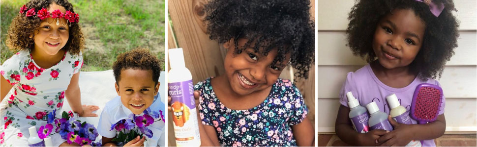 curly hair is great for kids