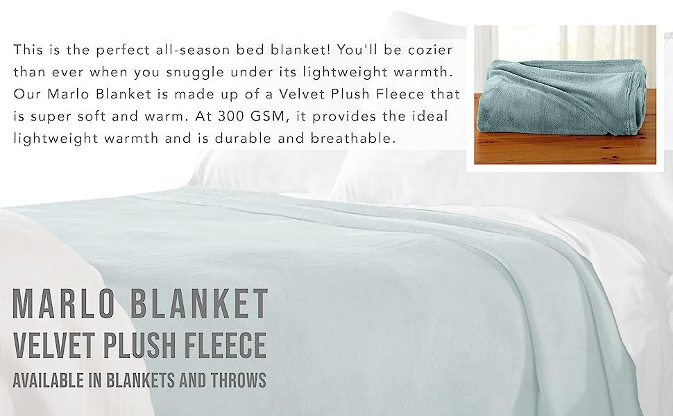 Marlo Velvet Plush Fleece Blanket