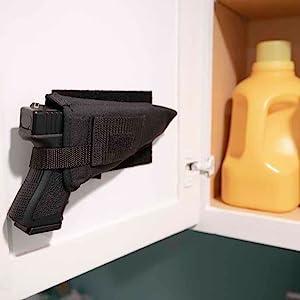 Hang it in a Cabinet Door