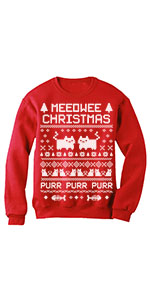 cat Meeowee Ugly Christmas Sweater Style Funny Women Sweatshirt