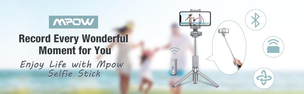 Mpow Upgraded Selfie Stick Bluetooth