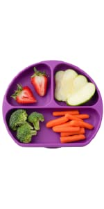 Silicone Suction Plate for Toddlers - Grape