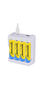 AA rechargeable Li-ion 4pack with charger