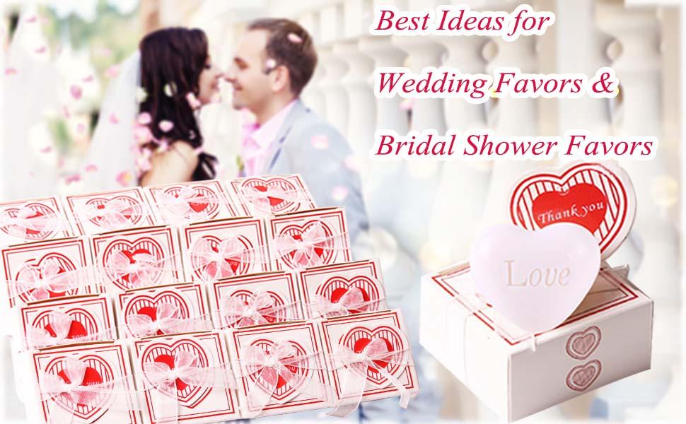 wedding favors bridal shower favors white love heart soap favors