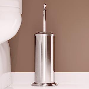 Home Intuition Stainless Steel Toilet Brush Holder durable odorless elegant