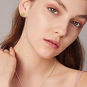 rose earrings jewelry gift
