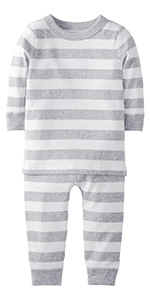Baby/Toddler 2-Piece Organic Long Sleeve Pajama Set