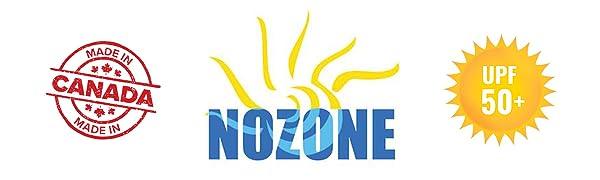 nozone logo landscaped upf 50+ made in canada