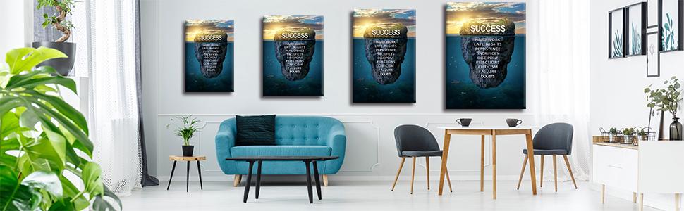 Success Inspirational Wall Art