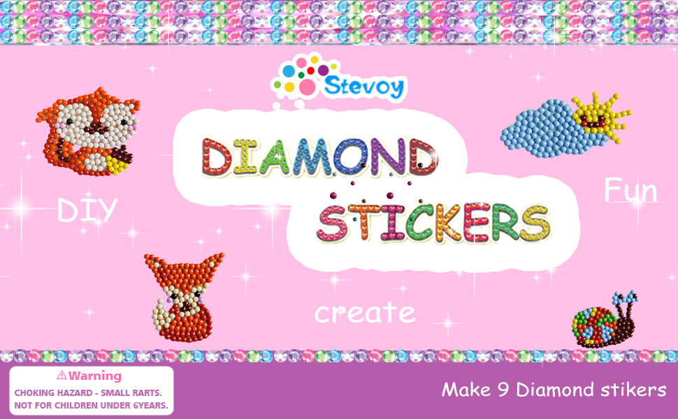 Diamond Painting Stickers Kits for Kids