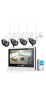 Wireless Camera System with Monitor