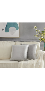 silver grey 18x18 throw pillow couch covers