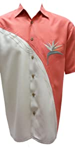 bird of paradise embroidery on shirt