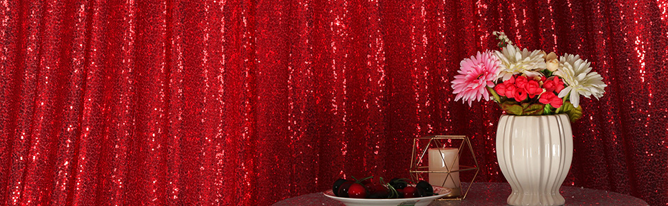 Navy Blue Sequin Backdrop