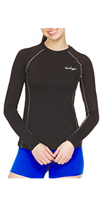 Thermajane Women's Compression Shirt Long Sleeve