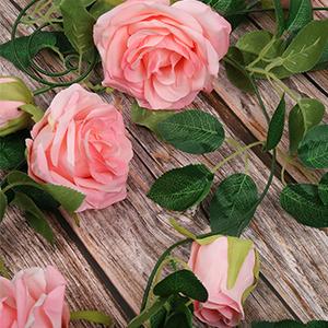 Artificial Rose Vine Garland Hanging Roses Silk Flower