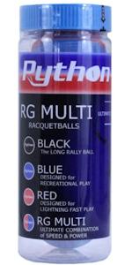 Python RG Multi Red/Blue Racquetballs