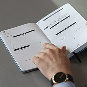 Daily Review progress tracking undated daily planner productivity page a day gratitude boost goals