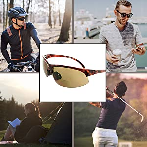 bifocal sunglasses polarized for women sport sunglasses bifocal wrap bicycle accessories safety HD