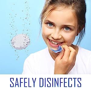 retainer cleaner, tablet, cleansing tablet, kids, adults, teeth