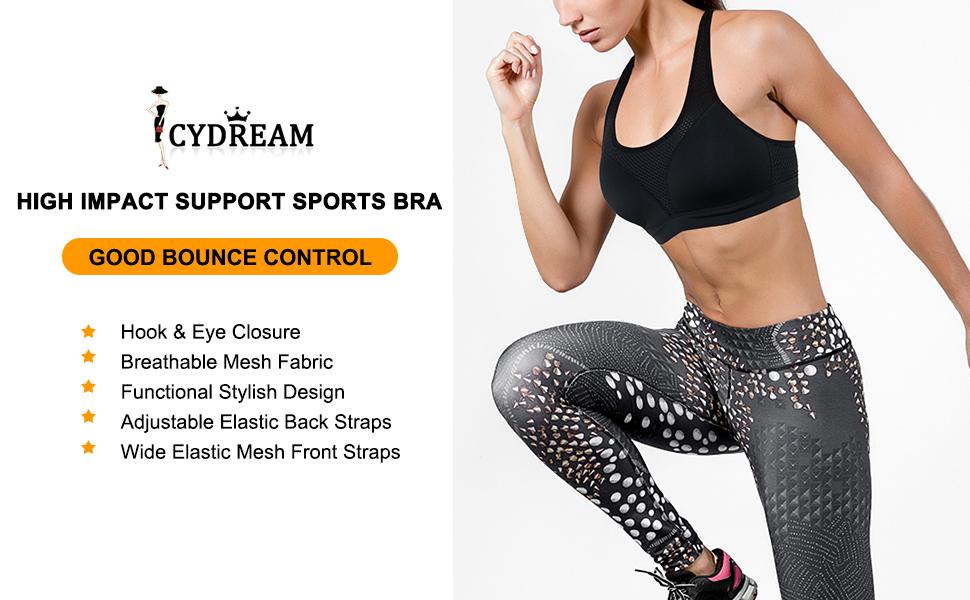 CYDREAM high impact support sport bra mesh fabric - 1