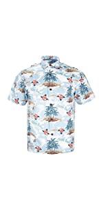 Men's Relaxed-Fit 100% Cotton Hawaiian Shirt