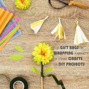 craft cutting paper diy flower pom pom tassels garland packing paper colored bulk solid