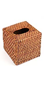 Rattan Tissue Box Cover