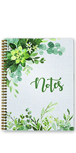 Abundant Greenery spiral notebook