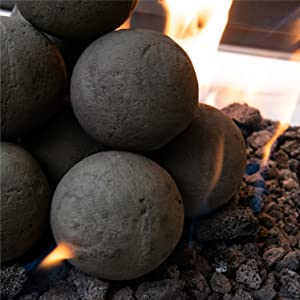 ceramic fire balls decor firepit fireplace pit fire modern new