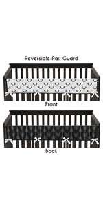 Woodland Deer and Arrow Boy Long Front Crib Rail Guard Baby Teething Cover Protector Wrap