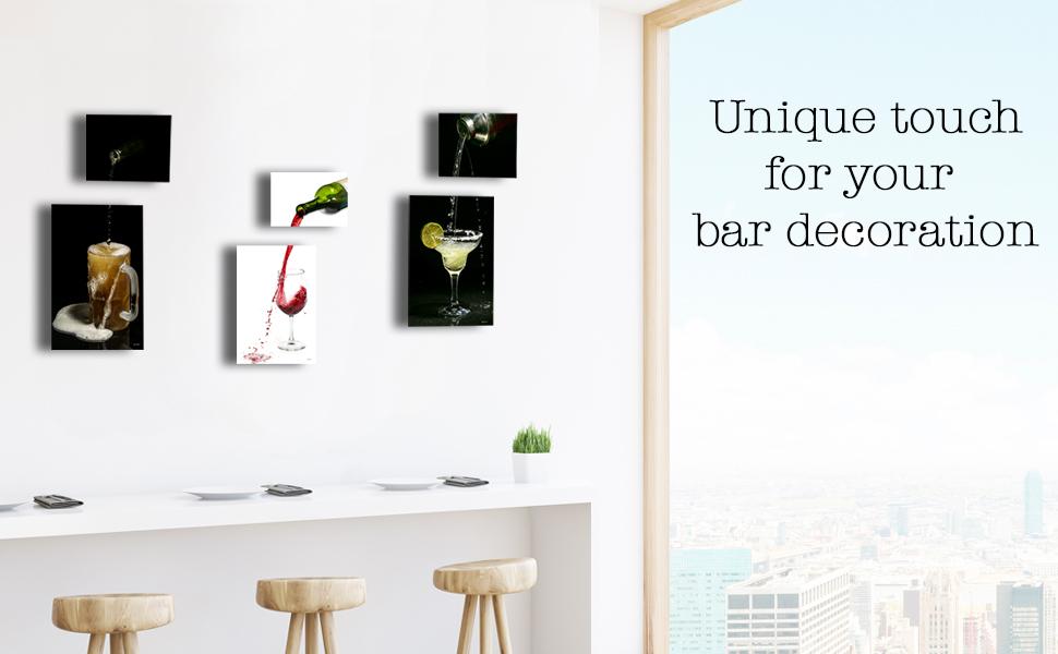 Quique Photography wall bar decor