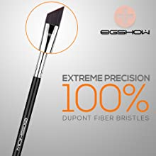 Gel Eyeliner Brush Fine Angled - pro Precision Eye Liner Makeup Brushes with Ultra Thin Slanted Flat