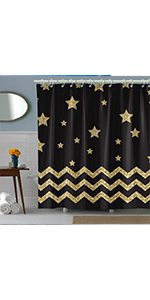 black chevron shower curtain