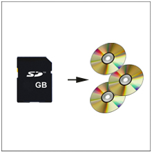 systor cd dvd mdisc multimedia duplicates from a single SD/microSD card to blank CD/DVD disc(s)