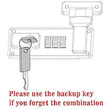 storage lock box with combination, combination lock box with emergency keys