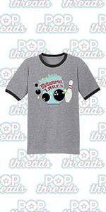 Stephen King Rules Horror Movie Book Merchandise Graphic Tee Ringer T-Shirt