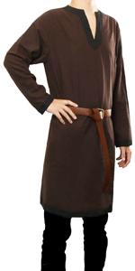 Medieval Tunic Monk Pirate Renaissance Halloween Cosplay Costume Robe