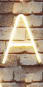 Neon Letter- Warm White