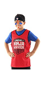 american ninja warrior kids role play set headband jersey face paint anw parties dress up costume