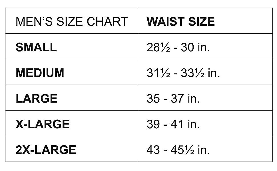 men's size chart leggings armedes